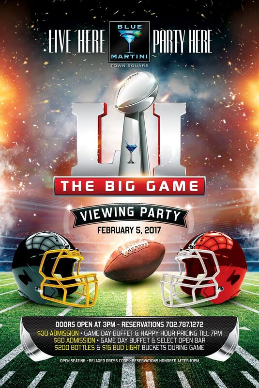 Super Bowl Viewing Party at Blue Martini